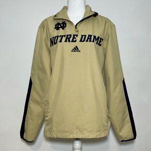 Adidas Norte Dame 1/4 Zip Windbreaker Pullover S